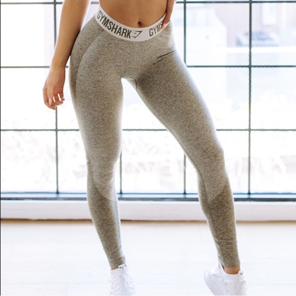 a43685a2aa7f9 Gymshark Pants | Khaki Flex Gym Shark Leggings | Poshmark